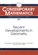 Recent Developments in Geometry