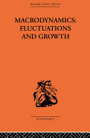Pdf Macrodynamics: Fluctuations and Growth Telecharger