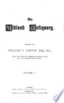 The Midland antiquary  ed  by W F  Carter