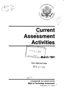 Current Assessment Activities
