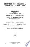 District Of Columbia Appropriations 1966