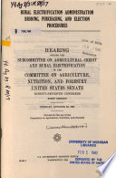 Rural Electrification Administration Bidding  Purchasing  and Election Procedures Book