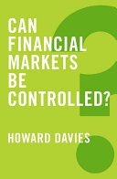 Can Financial Markets be Controlled