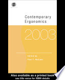 Contemporary Ergonomics 2003