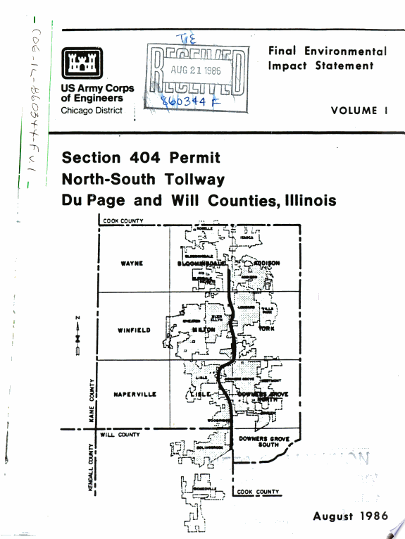 North-South Tollway, DuPage/Will Counties, Section 404 Permit