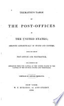 Tremayne's Table of Post-offices in the United States