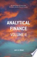 Analytical Finance  Volume II