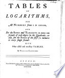 Tables of Logarithms, for All Numbers from 1 to 102100