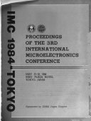 Proceedings of the 3rd International Microelectronics Conference