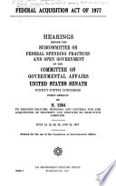 Federal Acquisition Act of 1977
