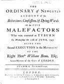 The Ordinary of Newgate s Account