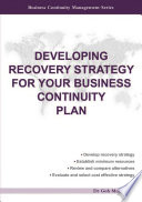 Developing Recovery Strategy For Your Business Continuity Plan