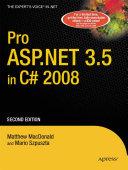 Pro ASP.NET 3.5 in C# 2008