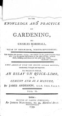An Introduction to the Knowledge and Practice of Gardening