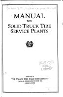 Manual for Solid Truck Tire Service Plants