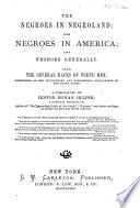 The Negroes in Negroland Book
