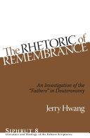 The Rhetoric of Remembrance [Pdf/ePub] eBook