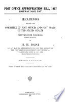 Post Office Appropriation Bill 1917