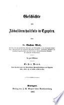 Geschichte der chalifen
