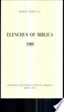 Elenchus of Biblica Book