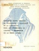 Seminario Sobre Tecnicas De Divulgacion Y Educacion De La Comunidad Para Los Programas De Control Y Prevencion De La Fiebre Aftosa
