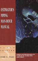 Estimator s Piping Man Hour Manual