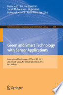 Green and Smart Technology with Sensor Applications Book