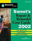 Sweet s Repair and Remodel Cost Guide 2002