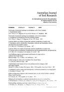 Australian Journal of Soil Research Book