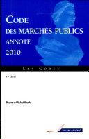 Code des marchés publics annoté