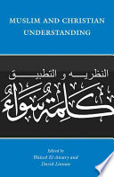 Muslim and Christian Understanding