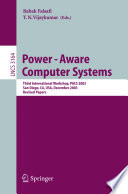 Power Aware Computer Systems Book