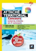 Concours Attaché territorial - Mon planning en 6 mois - Tout-en-un express - Visa