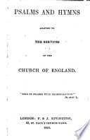 Psalms And Hymns Adapted To The Services Of The Church Of England Compiled By William John Hall  Book PDF