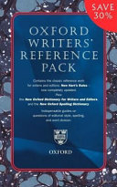 Oxford Writers  Reference Pack