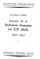 Histoire de la littérature française au XXe siècle, 1900-1950