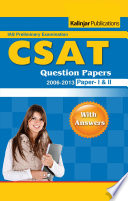 Upsc Ias Pre General Studies Csat Question Papers With Answers 2006 2013