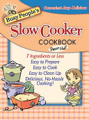 Busy People s Slow Cooker Cookbook