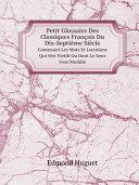 Pdf Petit Glossaire Des Classiques Fran?ais Du Dix-Septi?me Si?cle Telecharger