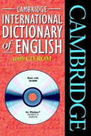 Cambridge International Dictionary of English with CD ROM