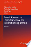 Recent Advances in Computer Science and Information Engineering  , Volume 2