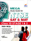 MEGA Study Guide for NTSE 2021  SAT   MAT  Class 10 Stage 1   2   12th Edition