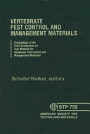 Vertebrate Pest Control and Management Materials