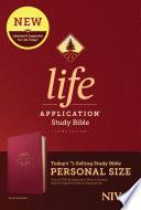 Niv Life Application Study Bible Third Edition Personal Size Leatherlike Berry