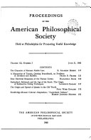 Pdf Proceedings, American Philosophical Society (vol. 112, no. 3, 1968) Telecharger