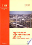 Application of high performance concrete report of the joint CEB FIP working group