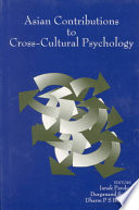 Asian Contributions to Cross Cultural Psychology Book PDF