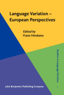 Language Variation – European Perspectives