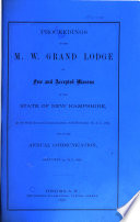 Proceedings of the M. W. Grand Lodge of Free and Accepted Masons of the State of New Hampshire