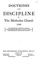 Pdf Doctrines and Discipline of the Methodist Church, 1940